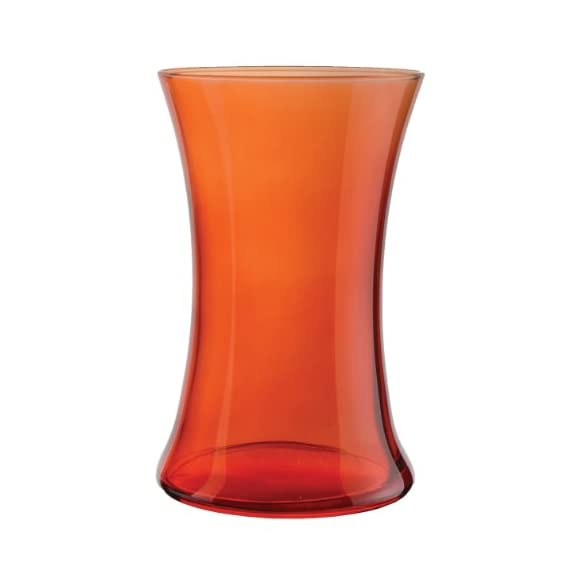 "Syndicate Sales 8"" Gathering Vase, Translucent Orange - Perfect color for fall Great color for complimenting flowers Pair with ribbons & accessories - vases, kitchen-dining-room-decor, kitchen-dining-room - 31uTitnv18L. SS570  -"