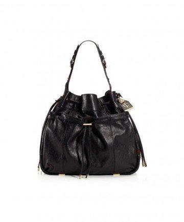 Women's Dylan Leather Hobo Black