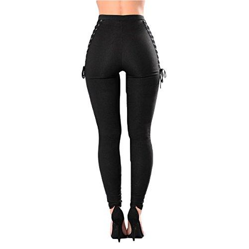 Csndion Black Sportivo Attivi Da Donna Unita Sexy Tinta Leggings Sottile Fitness Pants Allenamento 6rqpnwx67Z
