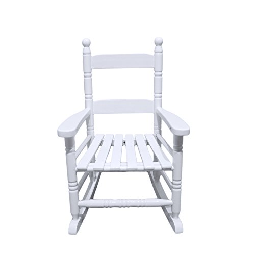ORNO TTOBE Kids Rocking Chair Porch Rocker Solid Hardwood Small Size-with Cushion