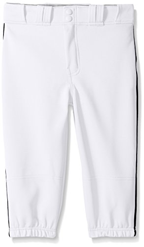 Easton Boys Pro Plus Piped Knicker, White/Black, Medium (Black Knickers Boys)