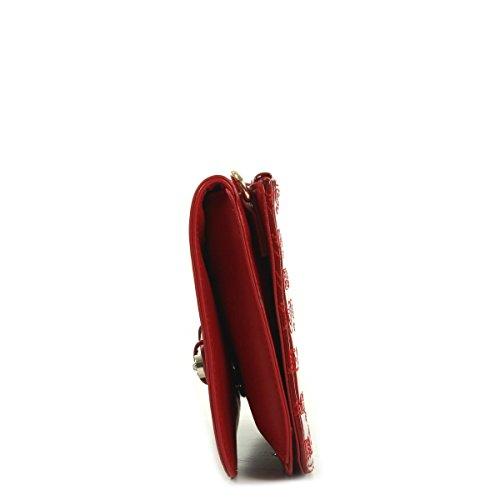 Versace Jeans Linea 500 Calf Vernice Rouge, Sac à main
