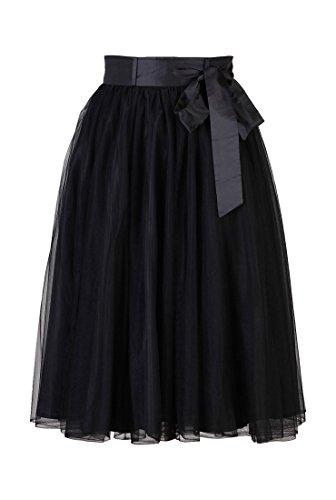 eShakti Women's Dahlia crinoline XS-0 Regular Black