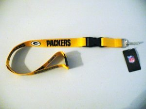 aminco NFL Green Bay Packers Team Lanyard, Gold