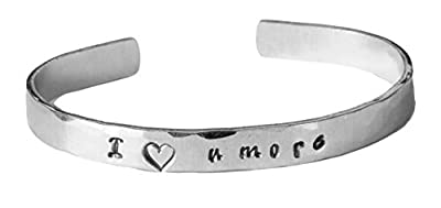Cuff Bracelet, I Love you more, Message Bracelet, Hand Stamped Bracelet, Valentine's Day, Mom, Wife, Mother's Day, Birthday Gift, Gift Ideas