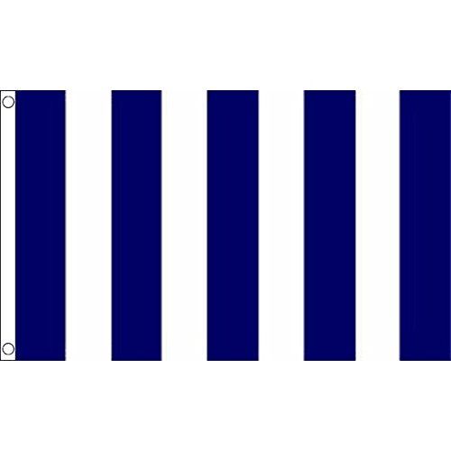 NAVY BLUE AND WHITE STRIPED FLAG 3' x 5' - BLUE AND WHITE FL