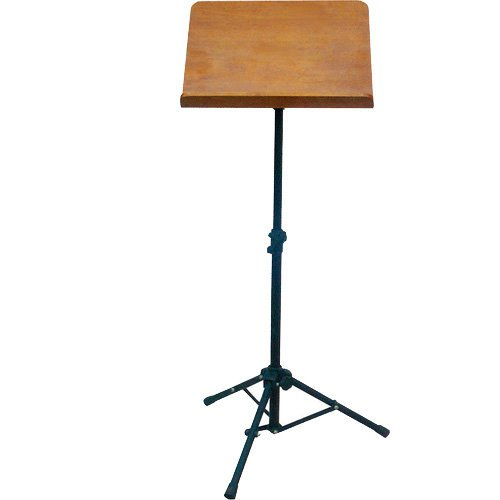 Wood Sheet Music Stand by Griffin|Portable Musical Instrument Accessory for Conductors, Violin, Clarinet, Guitar & Other Players|Pro-Audio Metal Folding Tripod Design with Stand-Alone Bookplate