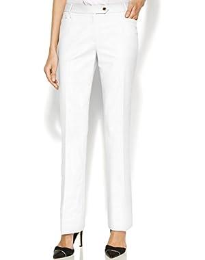 Calvin Klein True Women's Petite Straight-Leg Dress Pants White 8P