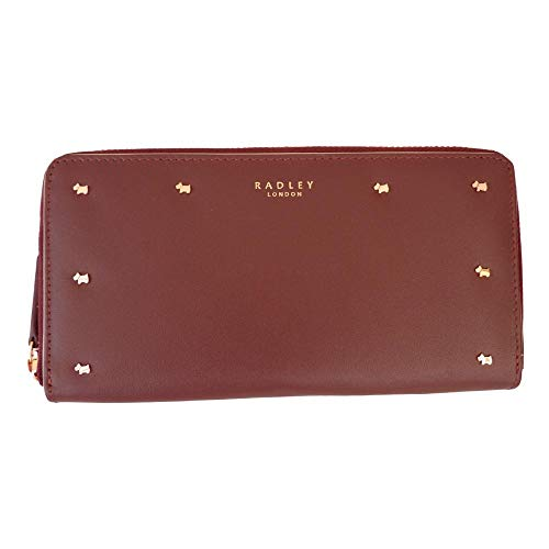 Large 'Arlington RADLEY Zipped Purse Burgandy Street' Leather qEwxFAOw
