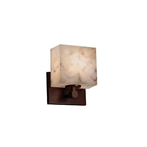 Justice Design Group Lighting ALR-8427-55-DBRZ-LED1-700 Tetra ADA 1-Light Wall Sconce-Rectangle Shade-Alabaster Rocks-LED, Dark Bronze