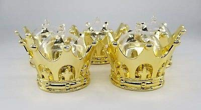 12X Baby Shower favors Fillable Gold Crown Prince/princess