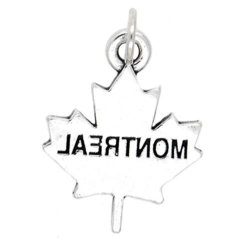 Sterling Silver Montreal Canada Charm Vintage Crafting Pendant Jewelry Making Supplies - DIY for Necklace Bracelet Accessories by CharmingSS -