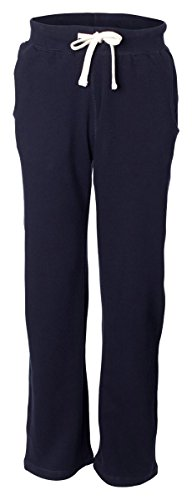 (Weatherproof Garment Company Adult Cross Weave Open Bottom Sweatpant, M, Navy)