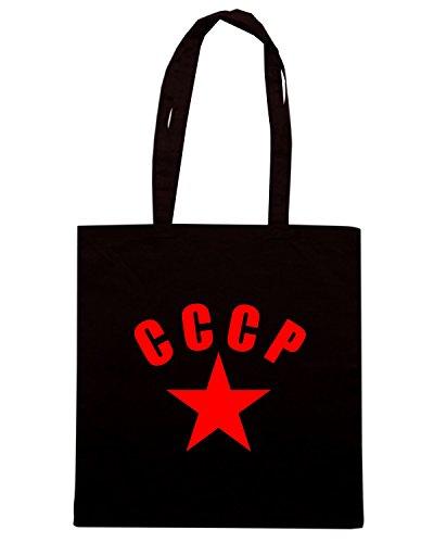T-Shirtshock - Bolsa para la compra T0045 CCCP militari Negro