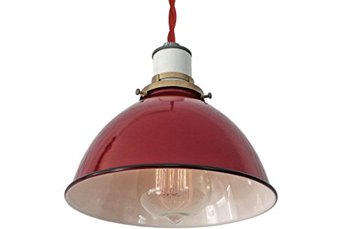 Vintage Industrial Enamel Pendant Lights - 5