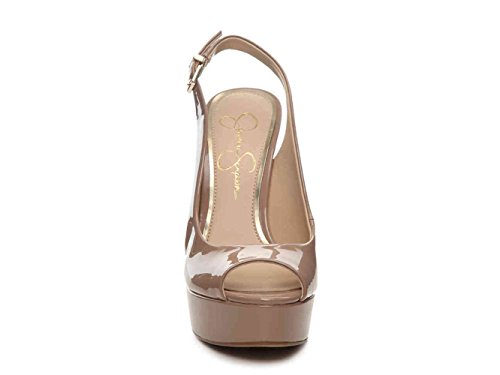 - Jessica Simpson Womens Bisano Peep Toe Special Occasion, Nude, Size 8.0