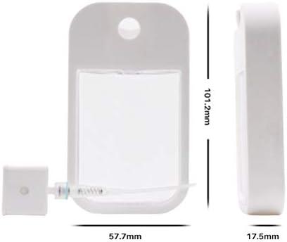 Yunobi Spray Bottle - Plastic Card-like Small Empty Spray Bottle with Atomizer Pumps Protable Refillable Moisturizing Sprayer Box Pocket-size for Perfume Oral Spray 38ml