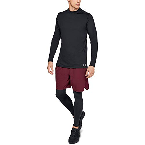 Under Armour Men's ColdGear Armour Compression Mock Long Sleeve Shirt, Black (001)/Steel, Medium (Shirts Long Gear Cold Sleeve)