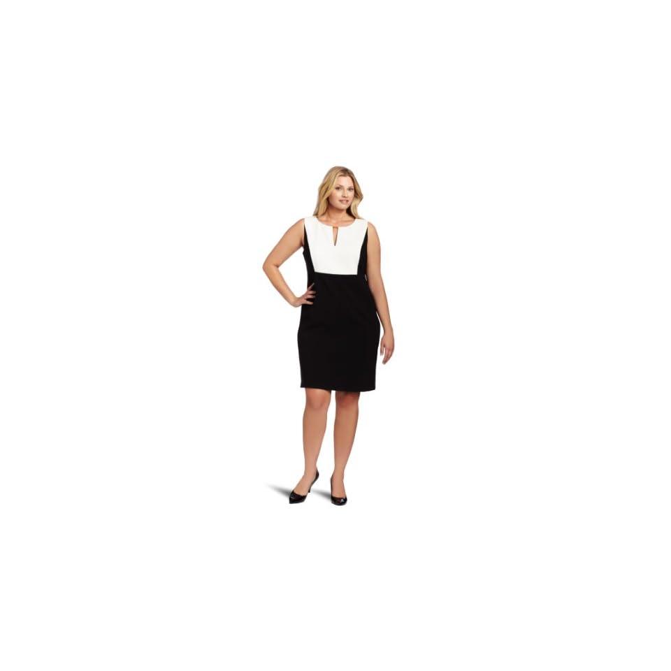Calvin Klein Womens Plus Size Wmn Colorblock Dress