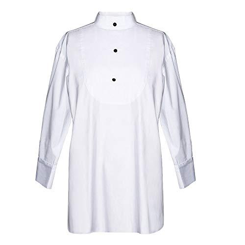 (Utopiat Tuxedo Sleep Shirt, Audrey Hepburn Breakfast at Tiffany's, Cotton, White (Large, without Gift Box))