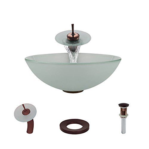 R5-5002-WF-ORB Frosted Glass Vessel Sink with Oil Rubbed ...