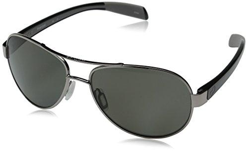 Native Eyewear Haskill Polarized Sunglass, Chrome and Iron Frame/Gray - Nose Native Eyewear Pads