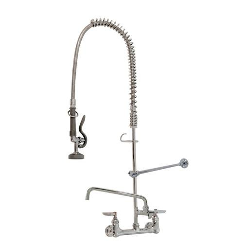 T&S Brass Easyinstall Pre-Rinse Unit With Wall Bracket &-Add On