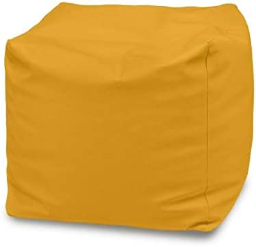 Italpouf Pouf Grande Cubo 45x45x45 cm Pouf Morbido Puff Tessuto Velluto Pouf Sfoderabile Pouf Cubo 15 Colori! Beige Imbottito