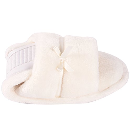 Toe Women House Non Open Slippers White Forfoot Slippers Slide for Slip Indoor on xqXfFdwt