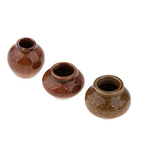 - SM SunniMix 1 Set of Realistic Resin Ceramic Pot Antique Porcelain Flower Vase with Nutural Fine Line Veins for 1/6 Dollhouse
