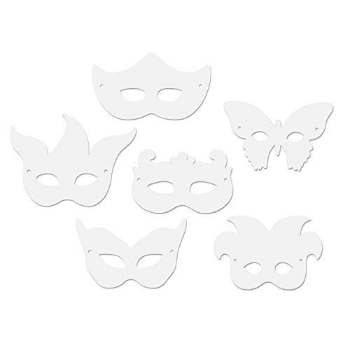 Creativity Street Die Cut Mardi Gras Paper Masks, Assorted Designs, 24 Pack (AC4651)