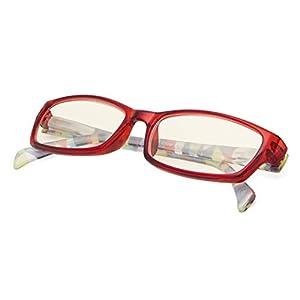 Computer Glasses - Blue Light Blocking Reading Glasses for Women Red Frame +0.75