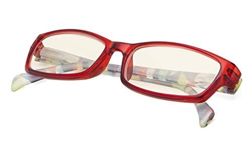 Computer Glasses - Blue Light Blocking Eyeglasses Readers for Women Red Frame +0.00