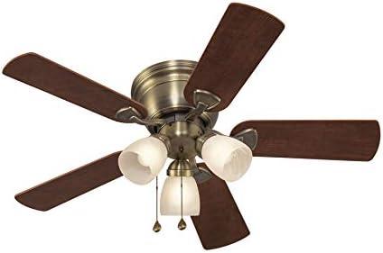 Harbor Breeze Centreville 42-bei Antique Brass Indoor Flush Mount Ceiling Fan mit Light Kit