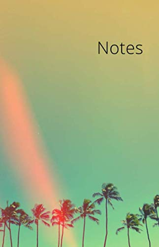 Notes: College Ruled Notebook Journal  for Work  Palm Tree Retro Style Pocket size 5x8 (East West Journal Of Economics And Business)