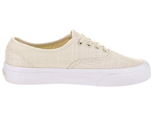 Vans Autentica Tela Di Canapa Lino Alla Caviglia Alta Scarpa Da Skateboard In Tela Turledove / True White