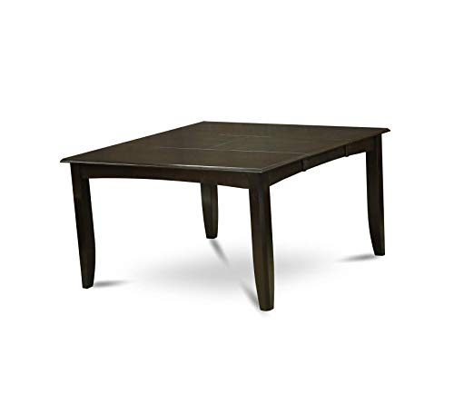 Wood & Style Furniture Gathering Dining Table with 18-Inch Butterfly Leaf, Cappuccino Finish Home Office Commerial Heavy Duty Strong Décor