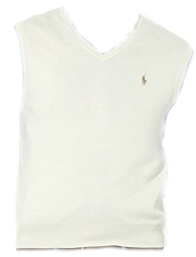 Polo Ralph Lauren Mens Pima Cotton Vest, (M, Cresent (Ralph Lauren V-neck Sweater Vest)