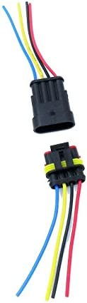 HIGHROCK 5 Kit 4 Pin Way Car Waterproof Electrical Connector Plug with Wire AWG Marine
