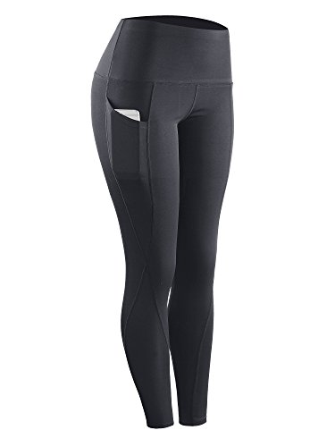 Neleus 2 Pack Tummy Control High Waist Running Workout Leggings,9017,2 Pack,Grey,Blue,US S,EU M by Neleus (Image #4)