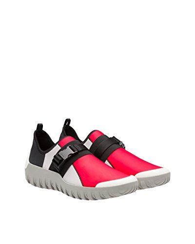 Prada Mænd 4d31361osqf0049 Sort / Rød Klud Sneakers XCx2VR