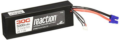 (Dynamite Reaction 7.4V 5000mAh 2S 30C LiPo Hard Case: EC3 Battery)