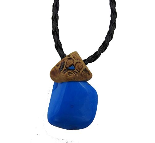 - Smoky Quartz Howlite Crystals Healing Stone Necklace Natural Colored Gemstone Pendant, Hand Made Art Unisex Gift
