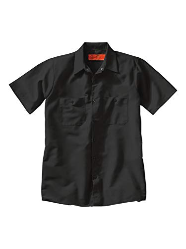 Red Kap Short Sleeve Industrial Solid Work Shirt Black Large - 5 Pack ()