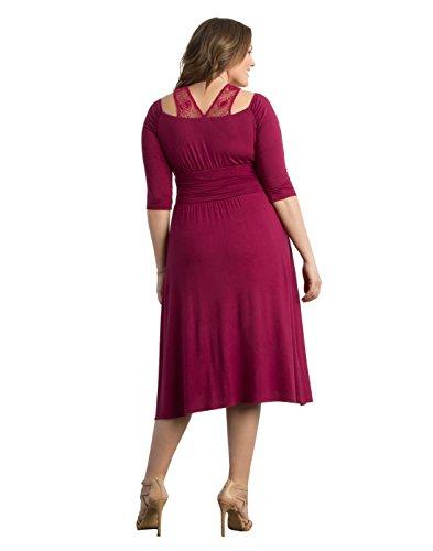Kiyonna Women's Plus Size Chloe Crochet Dress 2X Passion Fruit