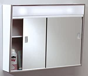 lighted medicine cabinet zenith metal 701l products lighted slide med cabinet pack 22684