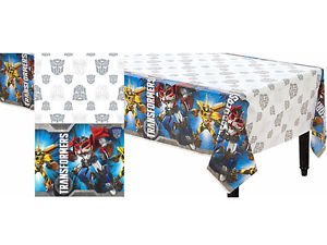 Transformers Plastic Table Cover-Optimus Prime Birthday Decoration Party Supply (Prime Optimus Cover)