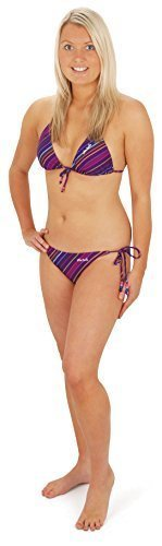 "Mujer Urban Beach ""Dune"" Rayas Traje de baño 2 Piezas Set De Bikini - Lila o blanco Morado"