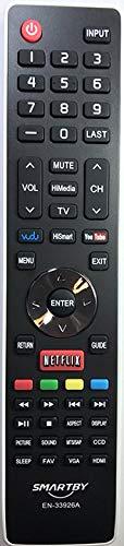 Smartby Remote Control Compatible with Hisense EN-33926A Rep