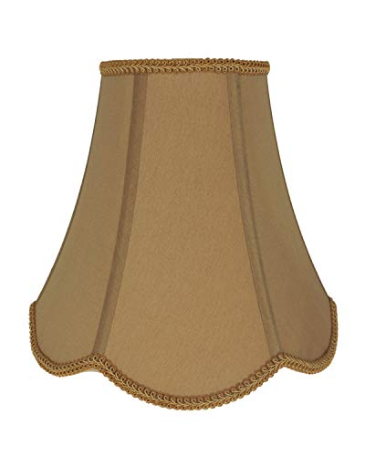 Urbanest Softback Scalloped Bell Lampshade, Faux Silk, 6-inch by 12-inch by 10-inch, Gold, Spider ()